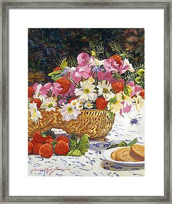 The Summer Picnic Framed Print by David Lloyd Glover