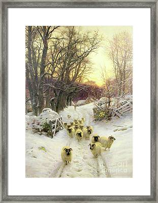 The Sun Had Closed The Winter's Day  Framed Print by Joseph Farquharson