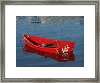 The Sunken Ship Framed Print by Mark Siciliano