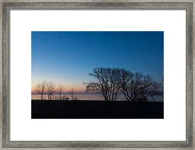 The Sunrise Bench Is Waiting For You Framed Print by Georgia Mizuleva