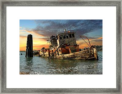 The Sunset Years Of The Mary D. Hume Framed Print by James Eddy
