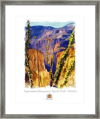 The Superstition Mtns. Az Framed Print by Bob Salo