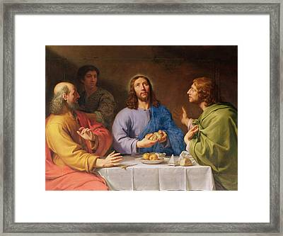 The Supper At Emmaus Framed Print by Philippe de Champaigne