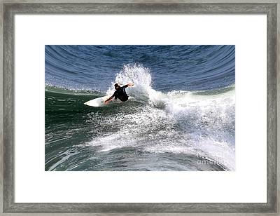 The Surfer Framed Print by Tom Prendergast