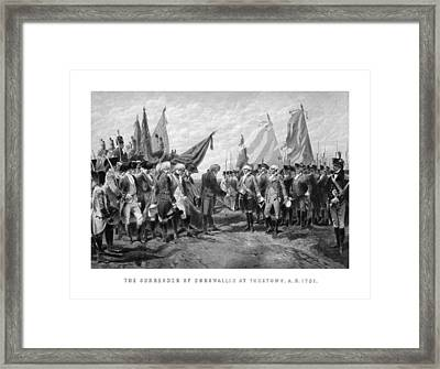 The Surrender Of Cornwallis At Yorktown Framed Print by War Is Hell Store