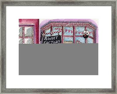 The Sweet Factory Framed Print by Lucia Stewart