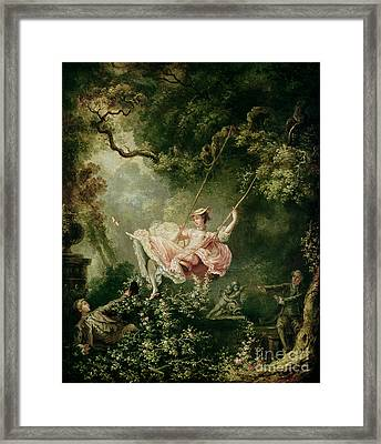 The Swing  Framed Print by Jean-Honore Fragonard