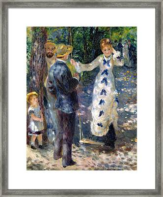 The Swing Framed Print by Pierre Auguste Renoir