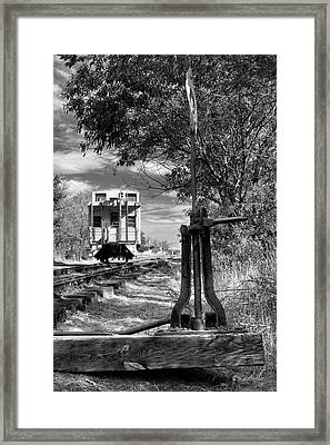 The Switch And The Caboose Framed Print by James Eddy