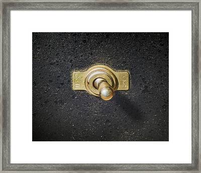 The Switch Framed Print by Scott Norris