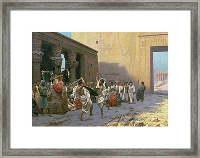 The Sword Dance Framed Print by Jean Leon Gerome