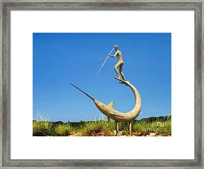 The Swordfish Harpooner Framed Print by Mark Miller