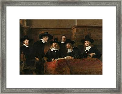 The Syndics Of The Amsterdam Drapers' Guild Framed Print by Rembrandt