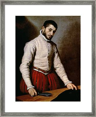 The Tailor Framed Print by Giovanni Battista Moroni
