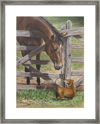 The Tall And Short Of It Framed Print by Kim Lockman