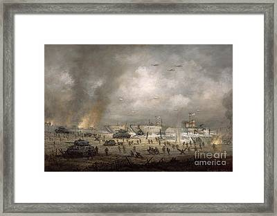 The Tanks Go In - Sword Beach  Framed Print by Richard Willis