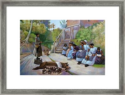 The Teacher Framed Print by Curtis James