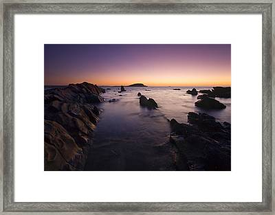 The Teeth Of Twilight Framed Print by Mike  Dawson