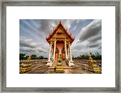 The Temple Framed Print by Adrian Evans
