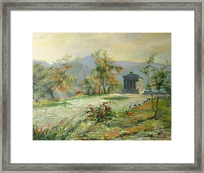 The Temple Of Garni Framed Print by Tigran Ghulyan