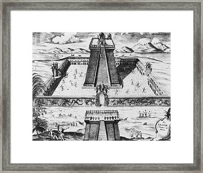 The Templo Mayor At Tenochtitlan Framed Print by Mexican School