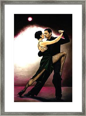 The Temptation Of Tango Framed Print by Richard Young
