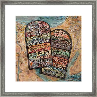The Ten Commandments Framed Print by Jen Norton