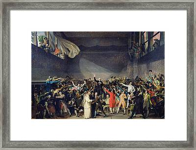 The Tennis Court Oath Framed Print by Jacques Louis David