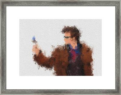 The Tenth Doctor Framed Print by Miranda Sether