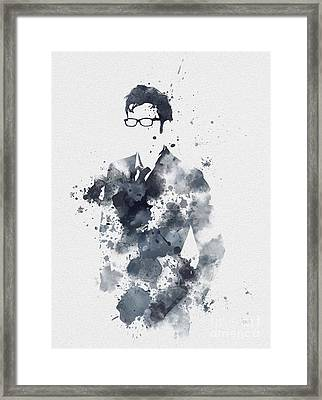 The Tenth Doctor Framed Print by Rebecca Jenkins