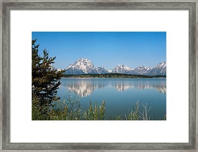 The Tetons On Jackson Lake - Grand Teton National Park Wyoming Framed Print by Brian Harig