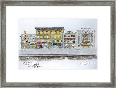 Theatre's Of Harlem's 125th Street Framed Print by AFineLyne