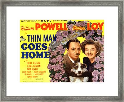 The Thin Man Goes Home, William Powell Framed Print by Everett