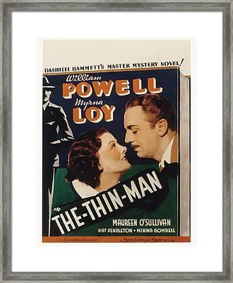 The Thin Man, Myrna Loy, William Framed Print by Everett