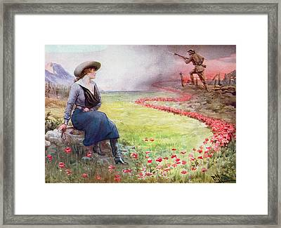 The Thin Red Line Framed Print by Harold Hume Piffard