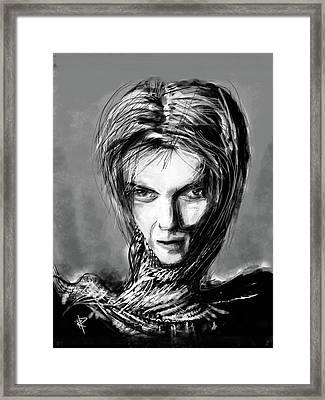 The Thin White Duke Framed Print by Russell Pierce
