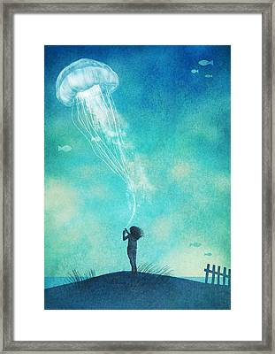 The Thing About Jellyfish Framed Print by Eric Fan