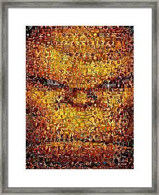 The Thing Mosaic Framed Print by Paul Van Scott