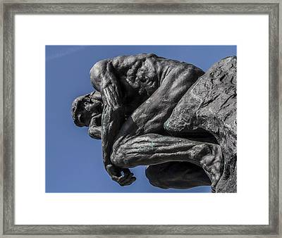 The Thinker Framed Print by Aileen Mozug