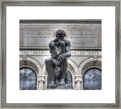 The Thinker Framed Print by Chris Coleman