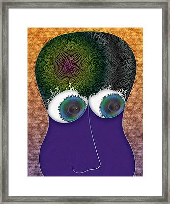 The Thought Plickens Framed Print by Becky Titus