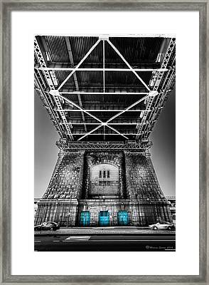 The Three Blue Doors Framed Print by Marvin Spates