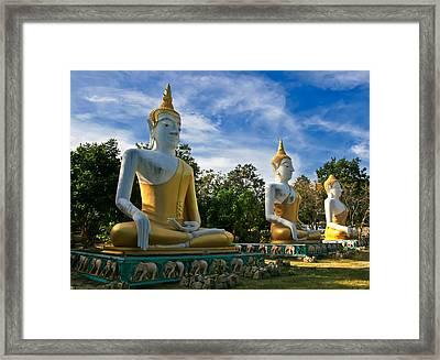 The Three Buddhas  Framed Print by Adrian Evans
