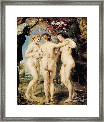 The Three Graces Framed Print by Peter Paul Rubens