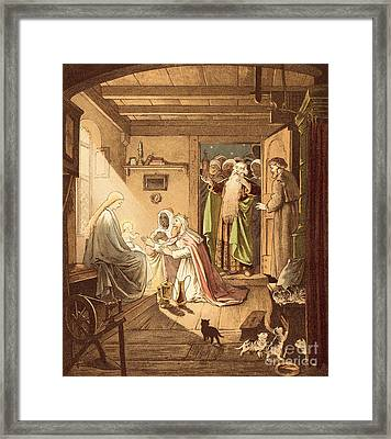 The Three Kings Framed Print by Victor Paul Mohn
