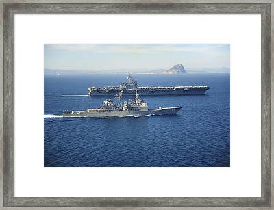 The Ticonderoga-class Guided Missile Cruiser Uss Vicksburg Framed Print by Celestial Images