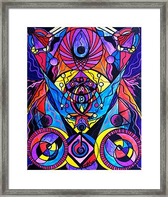 The Time Wielder Framed Print by Teal Eye Print Store