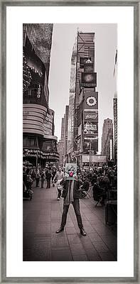 The Times Of Marilyn Framed Print by Az Jackson
