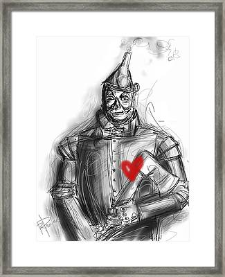 The Tin Man Framed Print by Russell Pierce