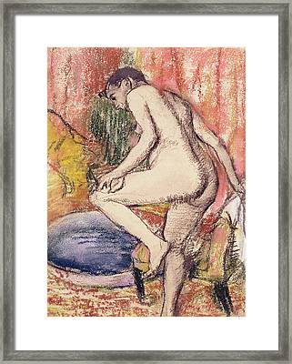 The Toilet Framed Print by Edgar Degas